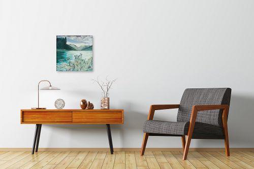 תמונה לחדרי המתנה - אסתר חן-ברזילי - נוף מושלג - מק''ט: 329627