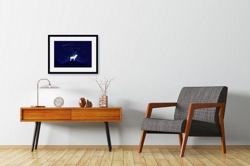 תמונה לחדרי המתנה - Artpicked - אייל וכוכבים - מק''ט: 329681