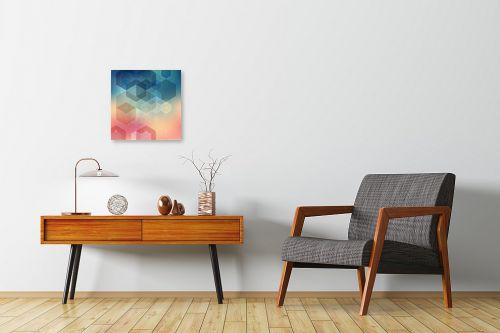 תמונה לחדרי המתנה - Artpicked - גיאומטרי שמימי - מק''ט: 331772