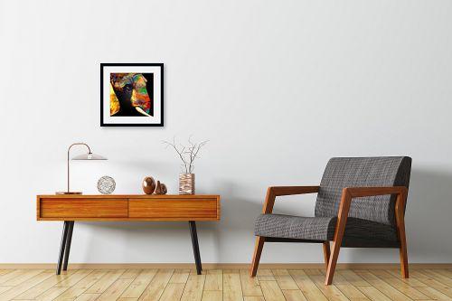 תמונה לחדרי המתנה - Artpicked - פיל בצבע - מק''ט: 332046