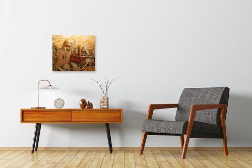 תמונה לחדרי המתנה - שמואל מושניק - החורבה בראשית המאה ה-20 - מק''ט: 332094