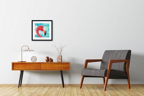 תמונה לחדרי המתנה - Artpicked - פלמינגו - מק''ט: 332529