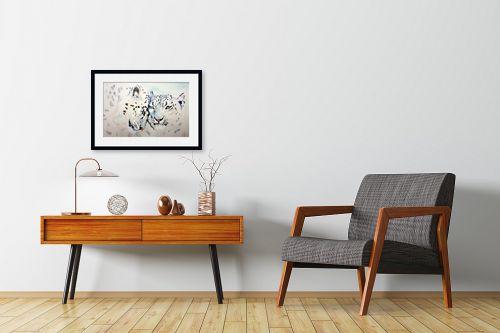 תמונה לחדרי המתנה - Artpicked - נמרים לבנים - מק''ט: 333622