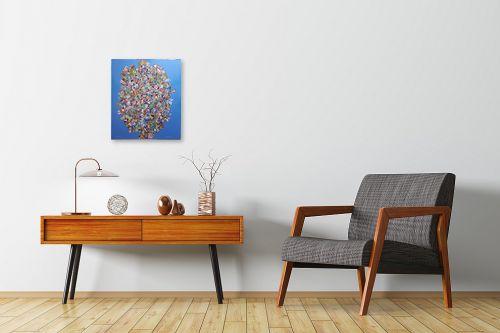 תמונה לחדרי המתנה - חיים מחט - פרחים קוביסטים - מק''ט: 336569