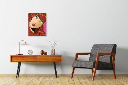 תמונה לחדרי המתנה - חנן אביסף - אישה עם שיער חום - מק''ט: 52071