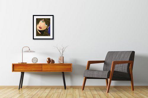תמונה לחדרי המתנה - חנן אביסף - אישה עם שיער חום - מק''ט: 52075