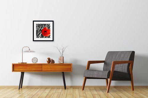 תמונה לחדרי המתנה - בתיה שגיא - אדום-שחור-לבן - מק''ט: 70616