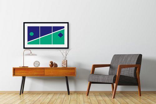 תמונה לחדרי המתנה - אתי דגוביץ' - דגם גאומטרי 2 - מק''ט: 99066