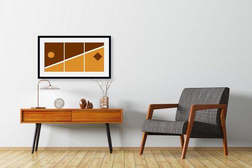 תמונה לחדרי המתנה - אתי דגוביץ' - דגם גאומטרי 3 - מק''ט: 99067