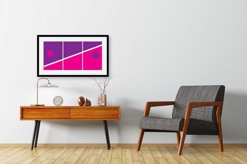 תמונה לחדרי המתנה - אתי דגוביץ' - דגם גאומטרי 4 - מק''ט: 99068