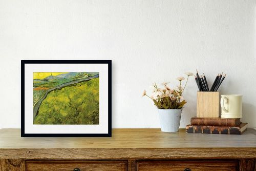 תמונה לשולחן - וינסנט ואן גוך -  green wheat fields - מק''ט: 115565