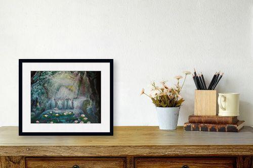 תמונה לשולחן - אילה ארויו - חבצלות  במים - מק''ט: 184205