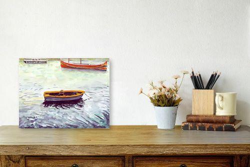 תמונה לשולחן - חיה וייט - סירות דייגים - מק''ט: 213274