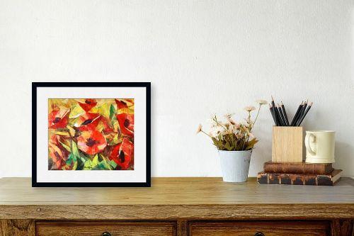 תמונה לשולחן - בן רוטמן - האדומים הפרגים - מק''ט: 229718