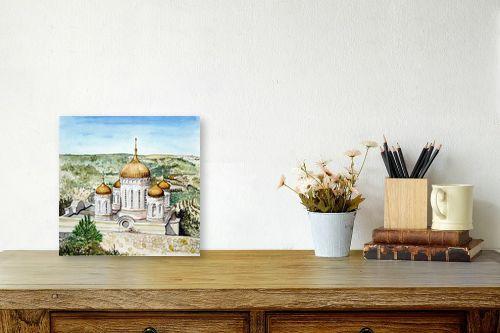 תמונה לשולחן - חיה וייט - הכנסייה הרוסית - מק''ט: 229866