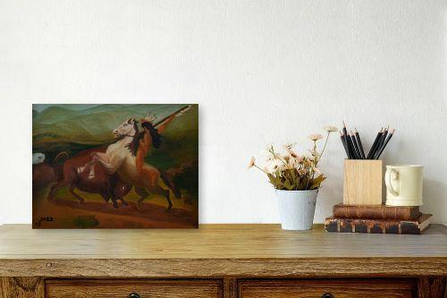 תמונה לשולחן - שרה וולקוב - אינדיאני על סוס - מק''ט: 236540