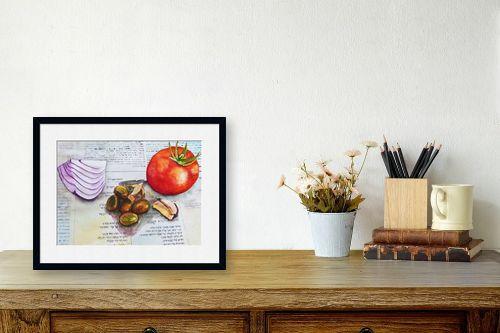 תמונה לשולחן - חיה וייט - ארוחה תרבותית - מק''ט: 261452