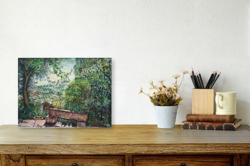 תמונה לשולחן - חיה וייט - ספסל אבן - מק''ט: 304453