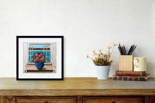 תמונה לשולחן - מזל בוכריס - ורדים מול הכנרת - מק''ט: 316390