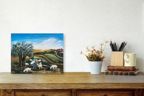 תמונה לשולחן - מזל בוכריס - כבשים בגליל - מק''ט: 316448