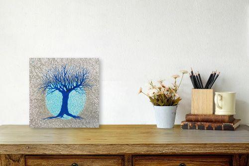 תמונה לשולחן - חני שפר - עץ ולבנה - מק''ט: 325519