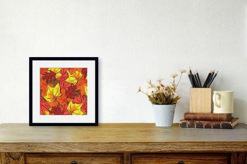 תמונה לשולחן - חנן אביסף - Brown Autumn Leaves - מק''ט: 52181