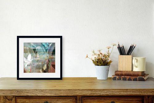 תמונה לשולחן - נעמי פוקס משעול - יונים מעל העיר - מק''ט: 57342