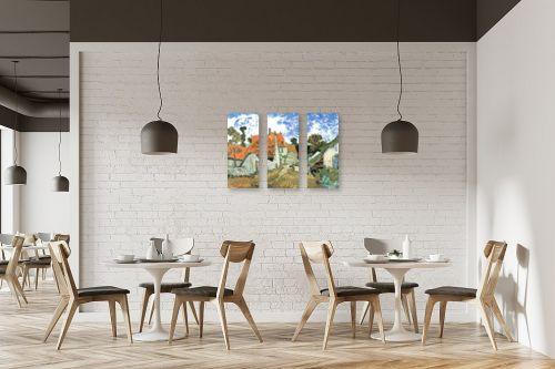תמונה למסעדה - וינסנט ואן גוך - Village street in auvers - מק''ט: 115549