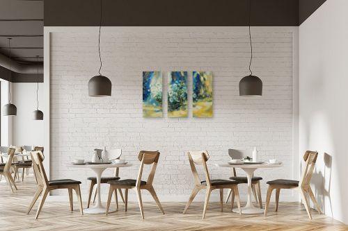 תמונה למסעדה - נטליה ברברניק - לבן בכחול - מק''ט: 155793