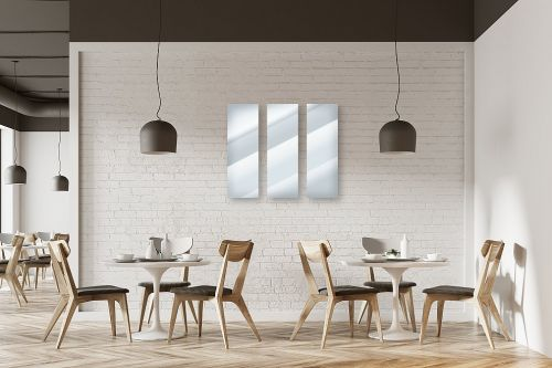 תמונה למסעדה - מראות מעוצבות - מראה מרובעת - מק''ט: 163857