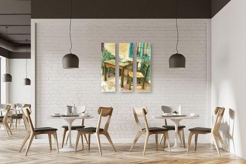 תמונה למסעדה - חיה וייט - שולחן, כסאות ועיתון - מק''ט: 213228