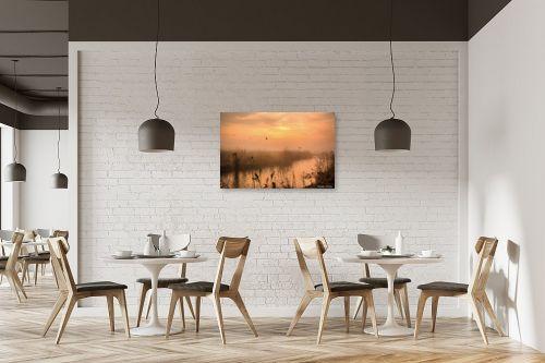 תמונה למסעדה - איזבלה אלקבץ - בוקר ערפלי באגמון - מק''ט: 278651