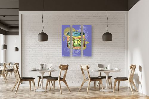 תמונה למסעדה - חנן אביסף - קופסת לוף - רקע סגול - מק''ט: 302666