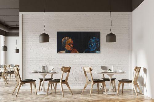 תמונה למסעדה - אסתר טל - מראה כחולה - מק''ט: 316220