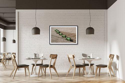 תמונה למסעדה - אסף סולומון - קטיף כותנה בים לבן - מק''ט: 32979
