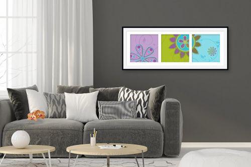 תמונה לסלון - נעמי עיצובים - שלישייה פורחת - מק''ט: 160018