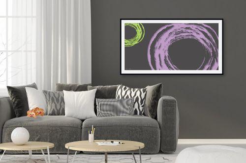תמונה לסלון - נעמי עיצובים - עיגול בסגול אפור - מק''ט: 189079