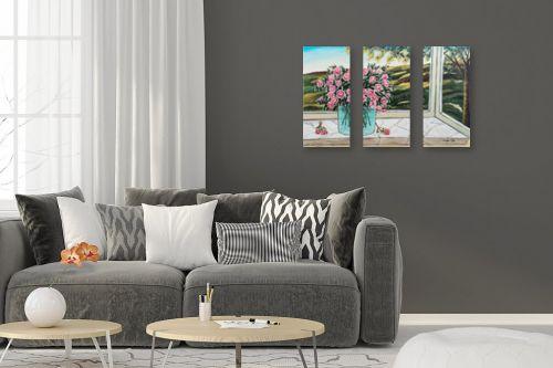 תמונה לסלון - מזל בוכריס - אגרטל פרחים - מק''ט: 316442