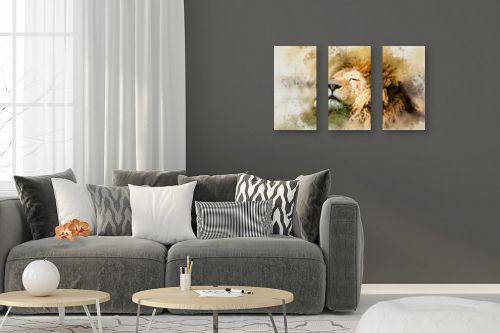 תמונה לסלון - Artpicked - אריה - מק''ט: 329700