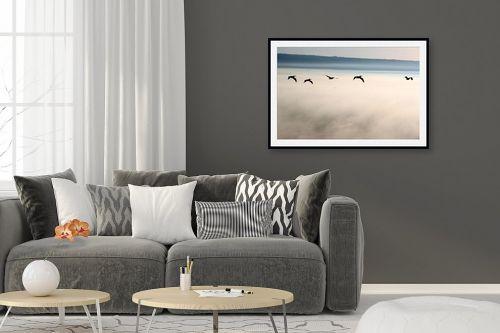 תמונה לסלון - אסף סולומון - מעל ערפילים בענן - מק''ט: 37680