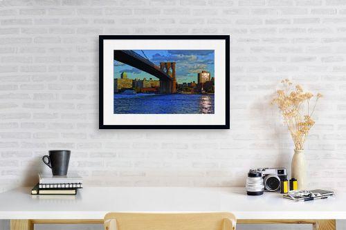 תמונה לפינת עבודה - עידן גיל - גשר ברוקלין - מק''ט: 16197