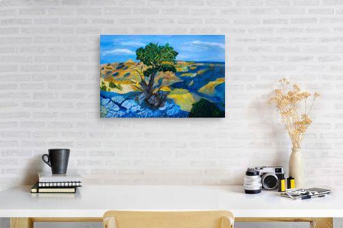 תמונה לפינת עבודה - חנה כרמי - העץ הבודד - מק''ט: 194988