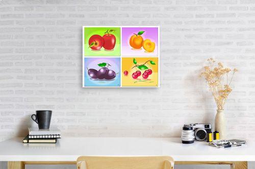 תמונה לפינת עבודה - ויקטוריה רייגירה - פירות העונה - מק''ט: 208141