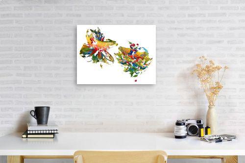 תמונה לפינת עבודה - ויקטוריה רייגירה - צבעים חיים - מק''ט: 246973
