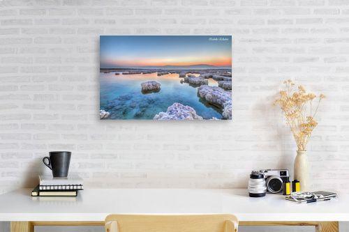 תמונה לפינת עבודה - איזבלה אלקבץ - זריחה בים המלח - מק''ט: 266732