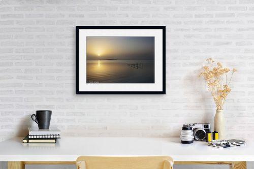 תמונה לפינת עבודה - איזבלה אלקבץ - זריחה בים המלח - מק''ט: 266917