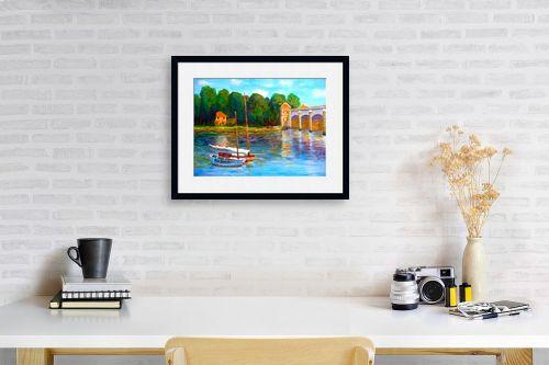 תמונה לפינת עבודה - אסתר חן-ברזילי - גשר על הנהר - מק''ט: 280874