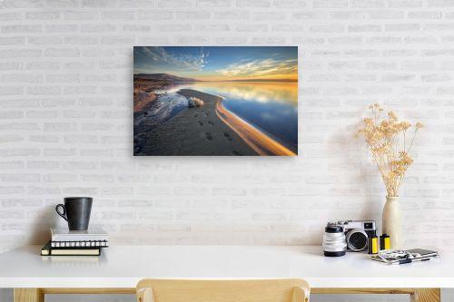 תמונה לפינת עבודה - מיכאל שמידט - שעת הזהב בכנרת - מק''ט: 293598