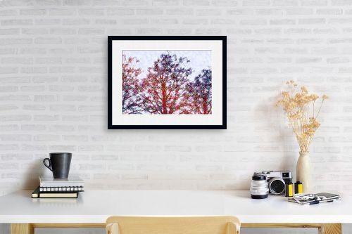 תמונה לפינת עבודה - ויקטוריה רייגירה - מבט לחורף - מק''ט: 303156