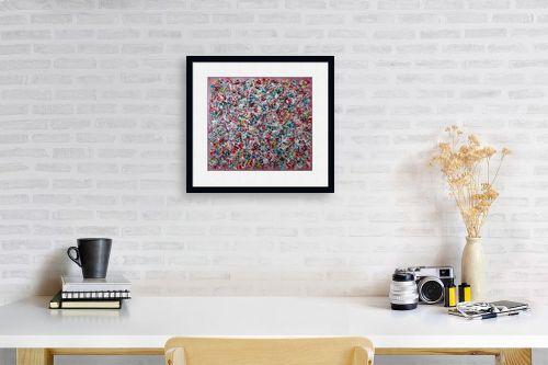 תמונה לפינת עבודה - חיים מחט - סילסולים צבעוניים - מק''ט: 310763